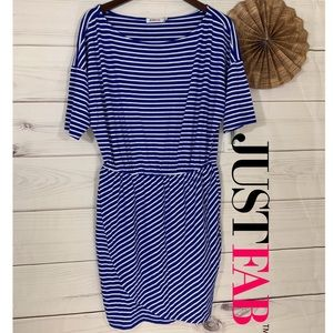 NWT JustFab Striped Scooped Neck Dress